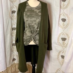 Forever 21 Olive Green Cardigan Women's Sz 1x